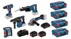 5 Tool Kit 18V - 5 Maschinen + 1 x ProCore 18V 4.0Ah + 2 x ProCore 8.0Ah Comboset 0615990L52