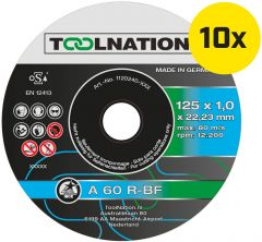 Toolnation Trennscheibe A 60 R-BF 125 x 1,0 x 22,23 mm (10 St.)