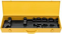 526052 R Stahlblechkasten mit Einlage für Rems EVA, 4 Schnellwechsel-Schneidköpfe und Verlängerung