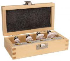 D-53534 Freesset afrondfrees met kogellager schachtdiameter 8 mm 4-delig In houten kist