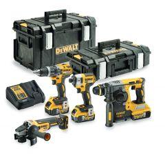 DCK422P3 Akku Spezial Set 18 Volt 5.0 Li-ion 4 Maschinen in Tough System Koffer