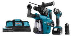 DLX2168TV Akku Spezial Set 18 Volt 5.0 Li-ion 2 Maschinen in Werkzeugtasche