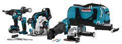 DLX5034T Akku Spezial Set 18 Volt 5.0 Li-ion 4 Maschinen in Werkzeugtasche