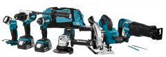 DLX6088T Akku Spezial Set 18 Volt 5.0 Li-ion 5 Maschinen in Werkzeugtasche
