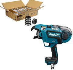 Makita SET 2 - 30 Boxen verzinkter Bindedraht 191A57-9 + gratis DTR180ZJ Akku-Bewehrungsverbinder 18 Volt ohne Akku oder Ladegerät