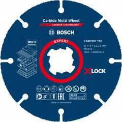 Expert Carbide Multi Wheel X-LOCK Trennscheibe, 115mm, 22,23mm