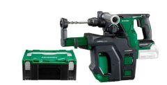 DH18DBLW2DZ Akku-Bohrhammer 18 Volt Ohne Akku oder Ladegerät im Hikoki System Case IV + Staubabsauggerät