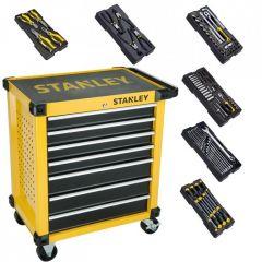 STHT6-80827 Werkzeugwagen 7 Schubladen gefüllt mit 6 Modulen!