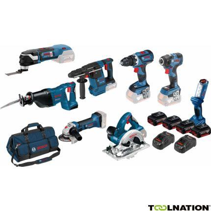 0615990K9H8 Tool Kit 18V - 7 Maschinen + Leuchte + 4 x 5,0Ah Li-Ion
